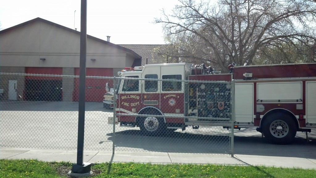 Terry Park Fire Station Red Fire Engine Truck Billings Montana