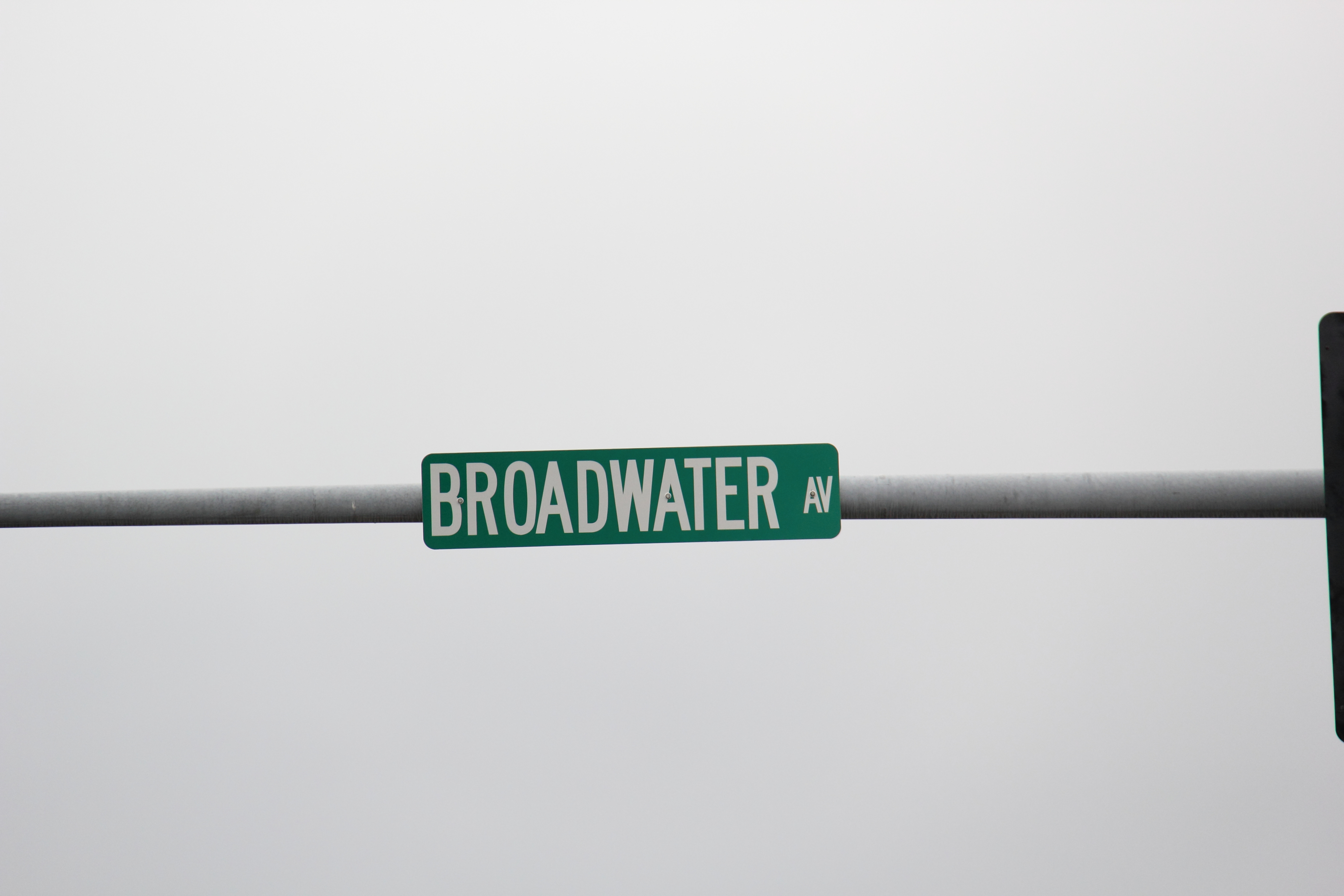 Broadwater Ave Street Sign Billings MT