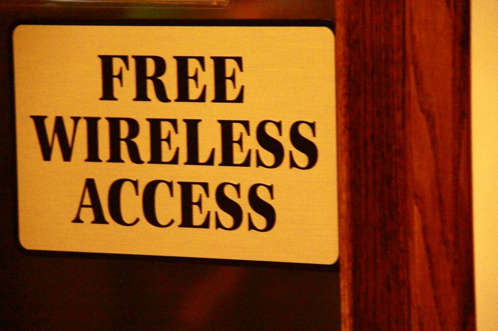 Free Wireless Access Sign