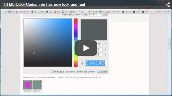 HTML Color Codes Video Tutorial