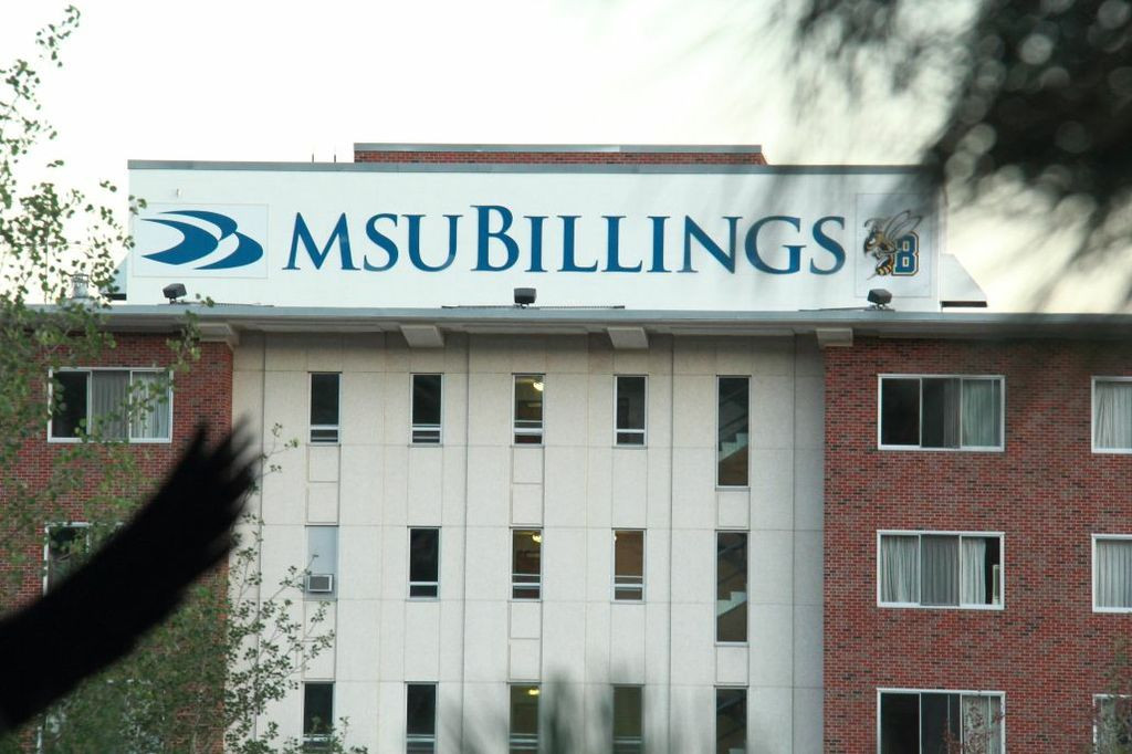 MSU Billings Building Logo Mast Head with Stinging Bee