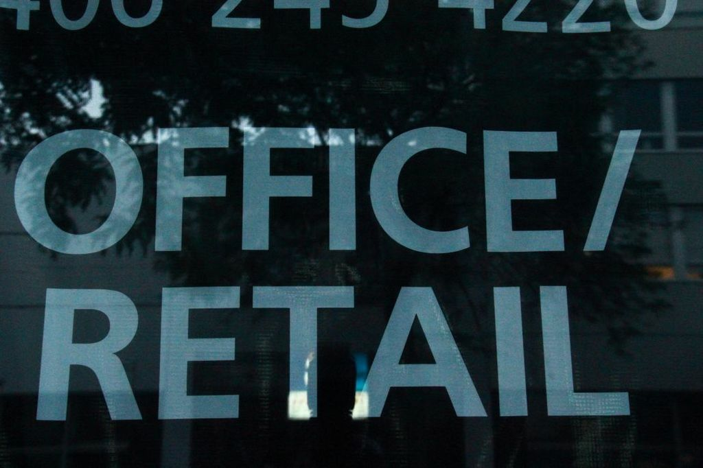Office Retail Space Sign on Window
