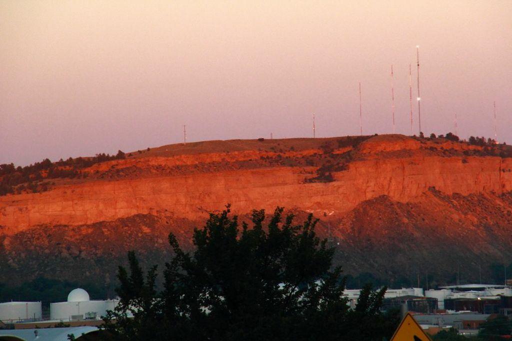 Sacrifice Cliff at Sunset Billings MT