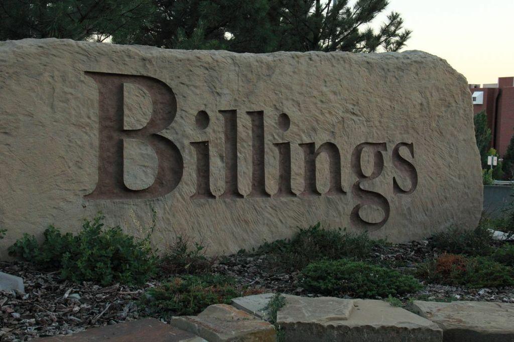 The word Billings written in stone
