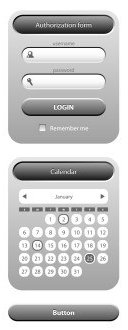 Curved edges on web buttons web calculator website menu