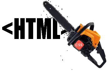 Removing Elements from a Website with CSS Chainsaw Chopping HTML