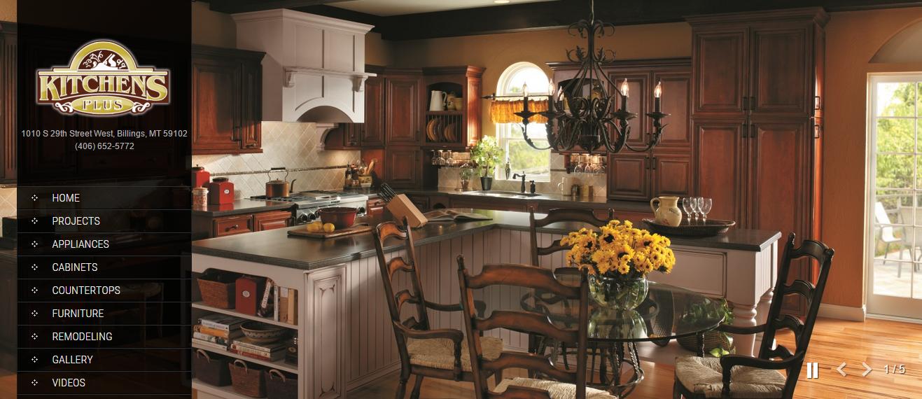 Kitchens Plus Website Design by SkyPoint Studios Billings MT
