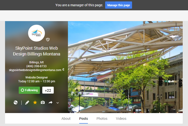 Manage Google+ Plus Page Covers