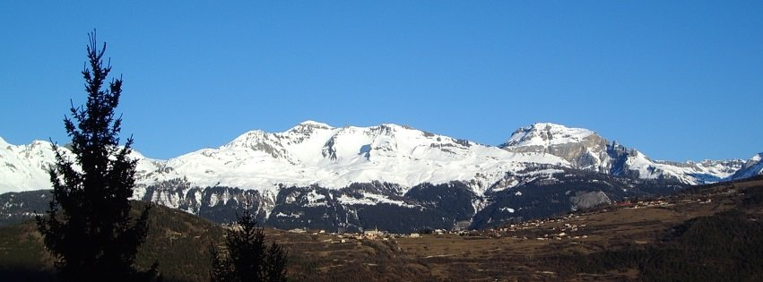 Montana Mountain Range Snow Facebook Cover