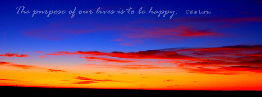 Purpose of Life is To Be Happy Facebook Covers