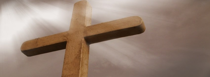 Cross with Light Shining Easter Facebook Cover