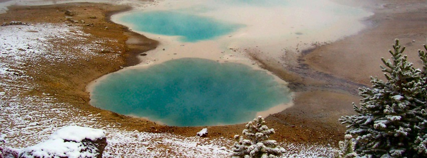 Hot Pot Pool Yellowstone National Park Facebook Covers