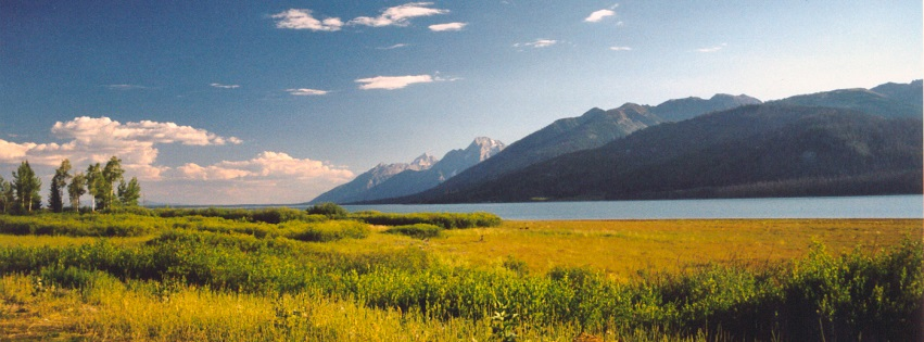 Lake and Mountains Yellowstone National Park Facebook Covers
