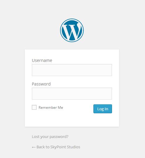 Log In Screen Manage WordPress
