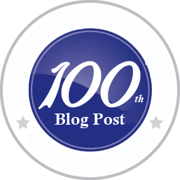100th Blog Post Logo