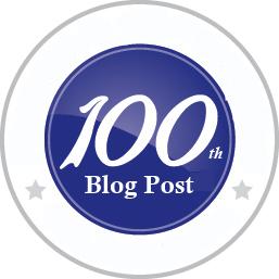 100th Blog Post Logo