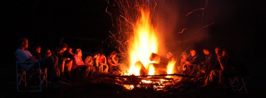 Camping Facebook Covers Family Campfire