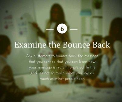 Examine the Bounce Back