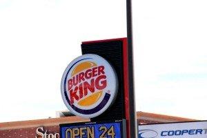 Burger King Sign Grand Ave Billings Montana