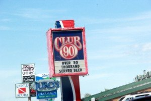 Club 90 sign Grand Ave Billings Montana