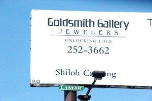 Goldsmith Gallery billboard Grand Ave Billings MT