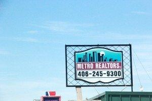 Metro Realtors sign Grand Ave Billings Montana