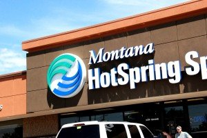 Montana Hot Spring Spas front of building Grand Ave Billings MT