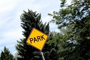Park Sign with Trees Billings Montana