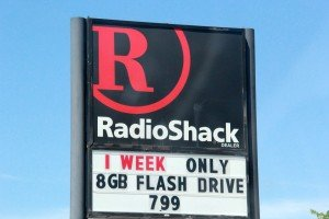 Radio Shack sign on Grand Ave Billings MT