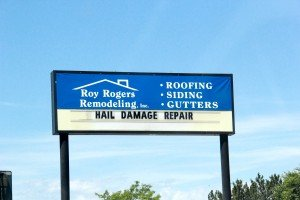 Roy Rogers Remodeling sign roofing contractor Billings Montana