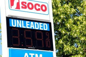 SOCO Gas Station Sign Unleaded Gas Prices Grand Ave Billings Montana