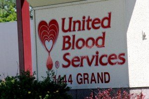 United Blood Services Sign Grand Ave Billings Montana