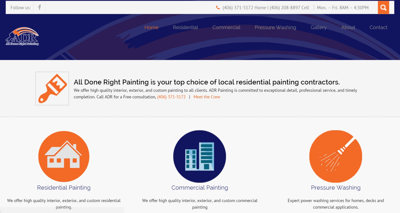 ADR Painting Website Design by SkyPoint Studios