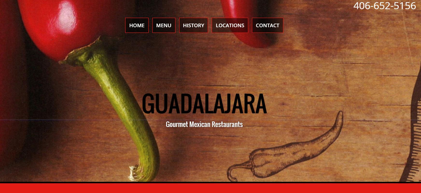 Guadalajara Mexican Restaurant Website Design by SkyPoint Studios