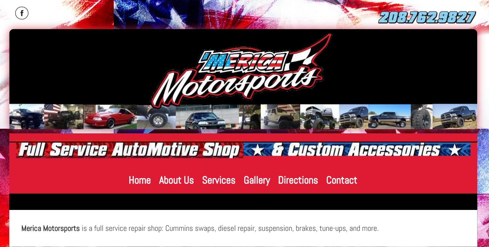 Merica Motorsports Website Design by SkyPoint Studios