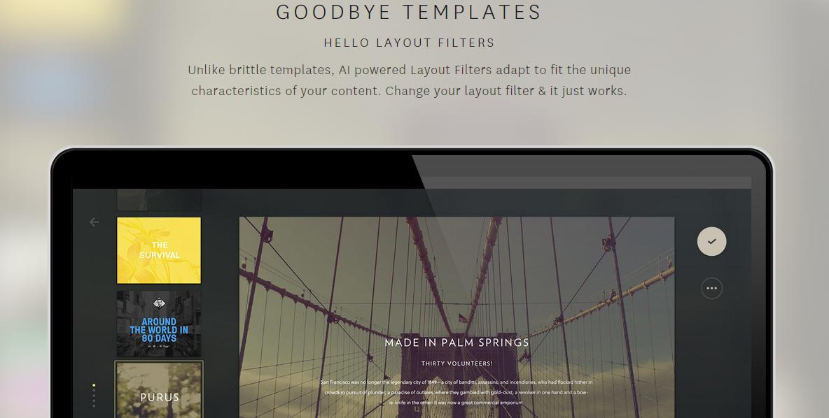 TheGrid.io Say goodbye to templates