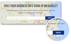 Does business info show up in Google