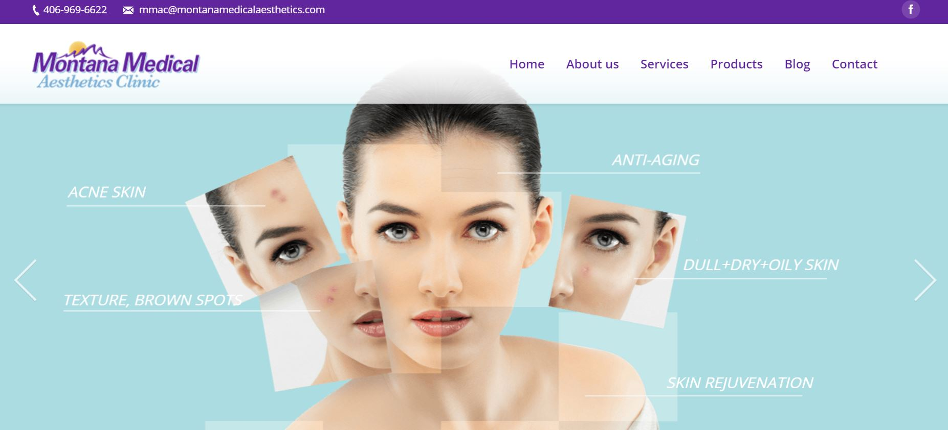 Montana Medical Aesthetics Clinic Website