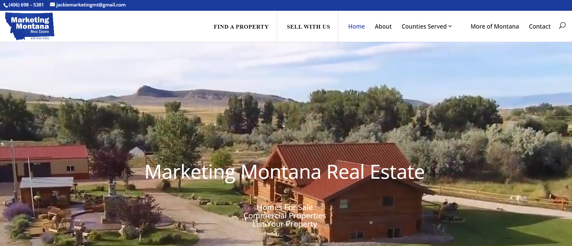Marketing Montana website design by SkyPoint Studios