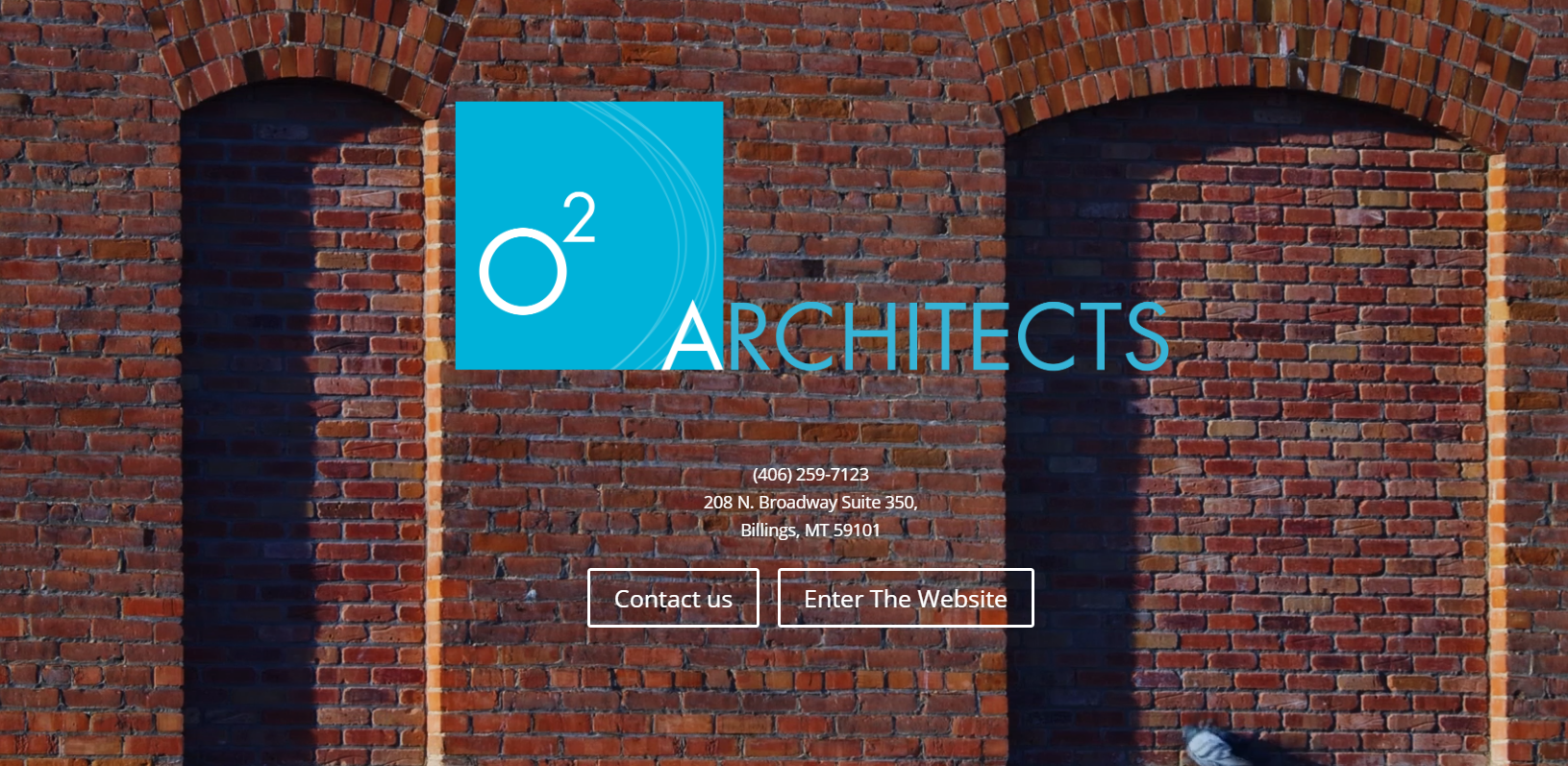 o2 Architects website design by SkyPoint Studios