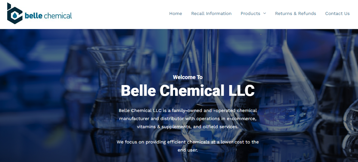 Belle Chemical website design by SkyPoint Studios