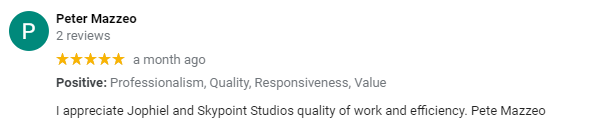 Peter Mazzeo review of SkyPoint Studios